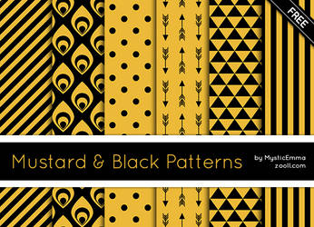 Mustard And Black Patterns by MysticEmma