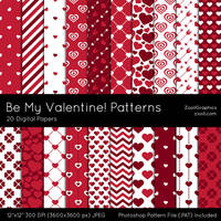 Be My Valentine Patterns by MysticEmma