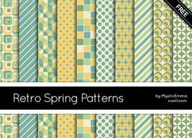 Retro Spring Patterns by MysticEmma