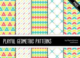Playful Geometric Patterns by MysticEmma