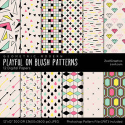 Playful On Blush Patterns by MysticEmma
