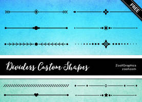 Dividers Custom Shapes by MysticEmma
