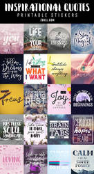 Inspirational Quotes Printable Stickers 3 by MysticEmma