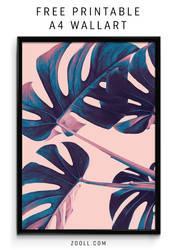 Palm Leaf A4 Print by MysticEmma