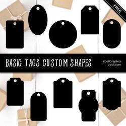 Basic Tags Custom Shapes by MysticEmma