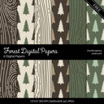 Forest Digital Papers by MysticEmma