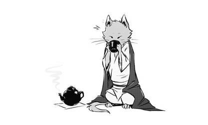 Kitten Teatime by croaky