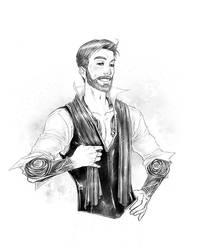 Senator Kenobi with tattoos by croaky