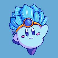 Ice Kirby by Eriniin