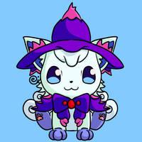 Halloween Alolan Vulpix by Eriniin