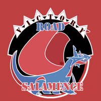 Commission: Salamence Logo LPL Chile by Eriniin