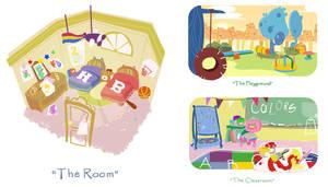 Environment design for children TV show by Chiara-Maria