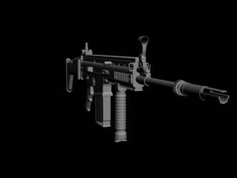 scar-h w.i.p2 by hunterkill999