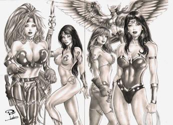 Womens Heros by jonatasarts2