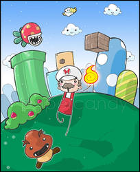 Super Mario Cross. by papercandy
