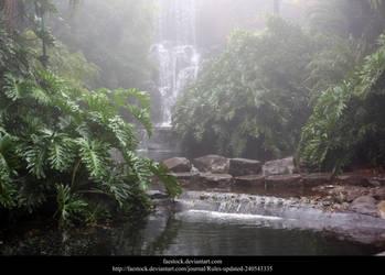 Misty Waterfall 2 by faestock