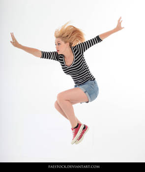 Jumping - Action Pose Reference 8 by faestock