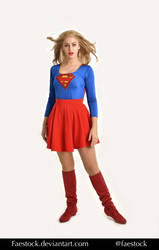 Supergirl  - Stock model reference pack 1 by faestock
