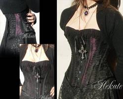 'HEKATE' corset - handmade by Nocturnal-Garden
