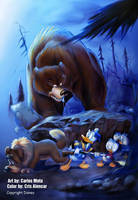 Donald Duck and Nephews by CarlosMota