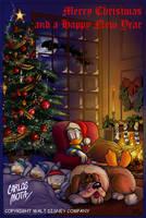 Donald Christmas by CarlosMota