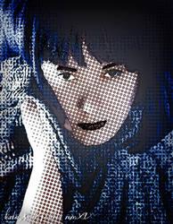 Blue Pixels by katielyst