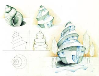Sea Shell House by Radu26