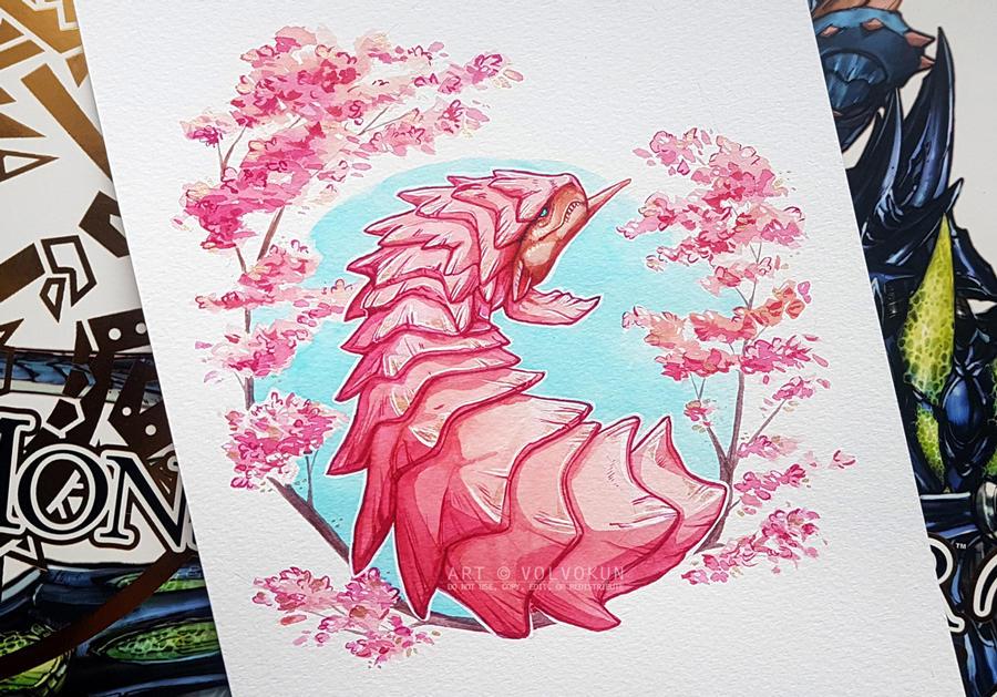 Pink Rathian V2 by VolVokun
