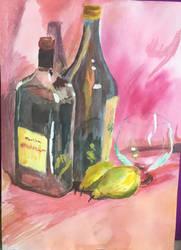 Bottle Glass Pear by Ciryu
