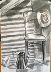 Still Life with Chair and Hat by Ciryu