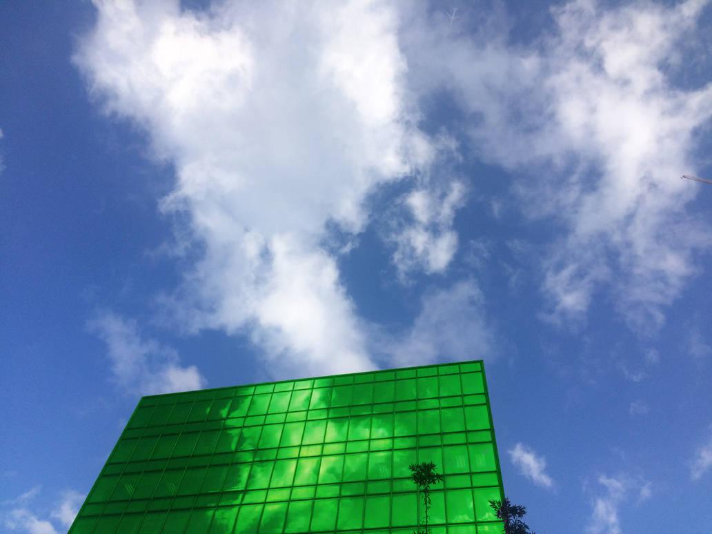 Green skyscraper by Ciryu
