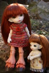 Faun sisters by Minnake