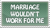 I'm not getting married stamp by Nothofagus-obliqua