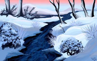 Frozen solid by Nothofagus-obliqua