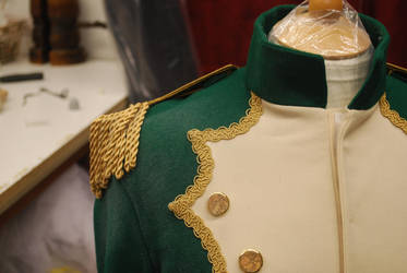 Napoleonic Inspired Jacket shoulder detail by SnowiusOwlus