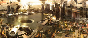 Post-apocalyptic city of Singapore by xaiyasak