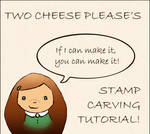 Hand-carved stamp tutorial by restlesswillow