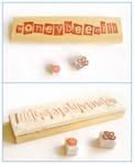 Honeybeehill logo stamp by restlesswillow
