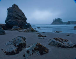 Stormy Beach Stock by little-spacey