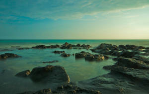 Blue Water stock background by little-spacey