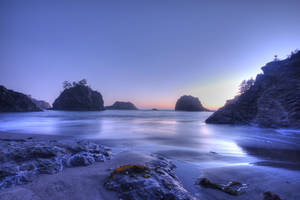 Enchanted beach background by little-spacey
