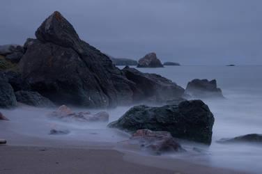 Dark beach stock by little-spacey
