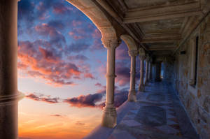 Marble Halls premade background by little-spacey