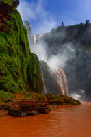 Red River Waterfall Stock by little-spacey