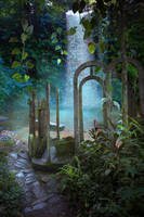 Jungle Archway Premade Background by little-spacey