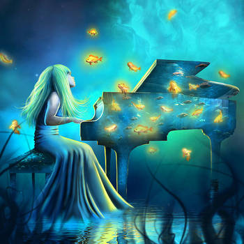 Piano Aquarium by little-spacey