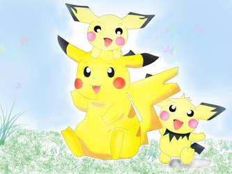 pikachu friends by Susukii-desire