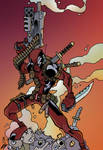 DEADPOOL by Dreekzilla color by chaz 1-8-16 by ChazWest