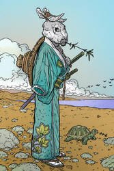 Usagi by Darrow color by Chaz 3-8-17 by ChazWest