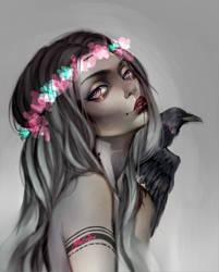 Raven Girl by Mellvine